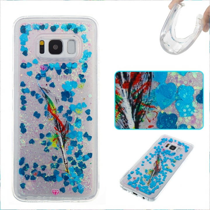 Samsung Galaxy S8 Case,Liquid Quicksand Floating Clear Soft TPU Protective Cover (pattern 6) For Samsung Galaxy S8
