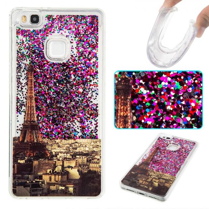 Huawei P9 Lite Case,Liquid Quicksand Transparent Soft TPU Silicone Case  (pattern 2) For Huawei P9 Lite