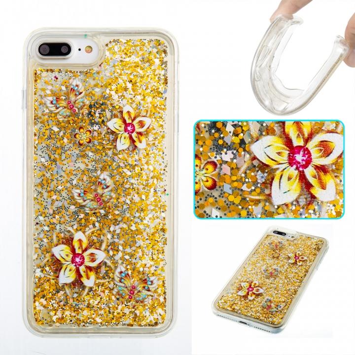 iPhone 7 plus/8 plus Case,Liquid Quicksand Transparent Soft TPU Silicone Case  (pattern 9) For iPhone 7 plus/8 plus