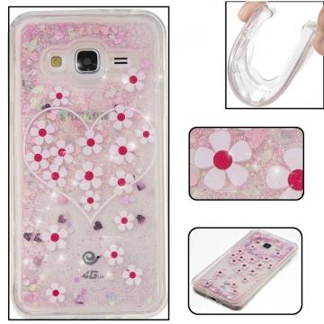 Samsung Galaxy J3/J310 Case,Liquid Quicksand Floating Clear Soft TPU Protective Cover (pattern 3) For Samsung Galaxy J3/J310