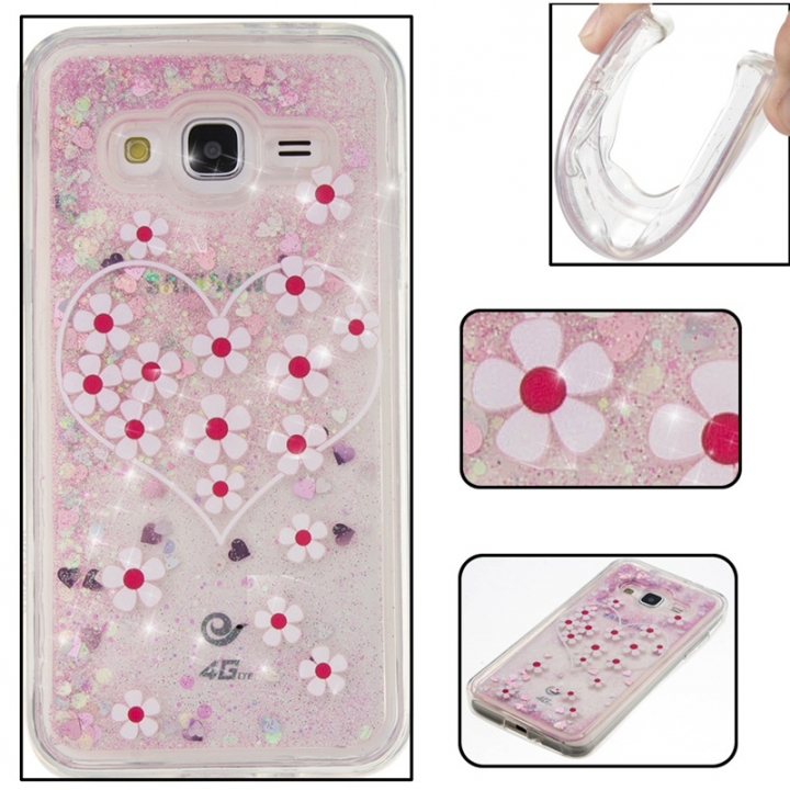 Samsung Galaxy J3/J310 Case,Liquid Quicksand Floating Clear Soft TPU Protective Cover (pattern 3) For Samsung Galaxy J3/J310