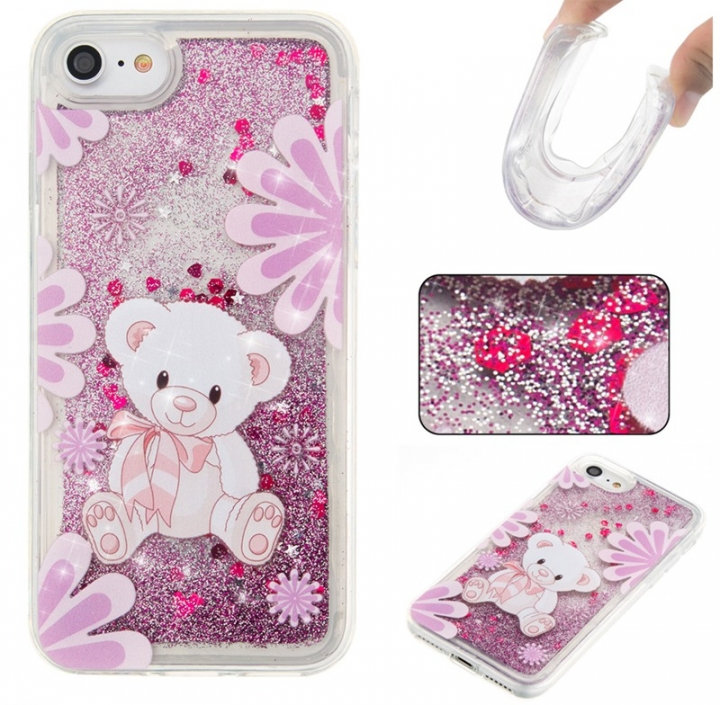 Iphone 7G/8G Case,Liquid Quicksand Floating Clear Soft TPU Protective Cover (pattern 4) For Iphone 7G/8G