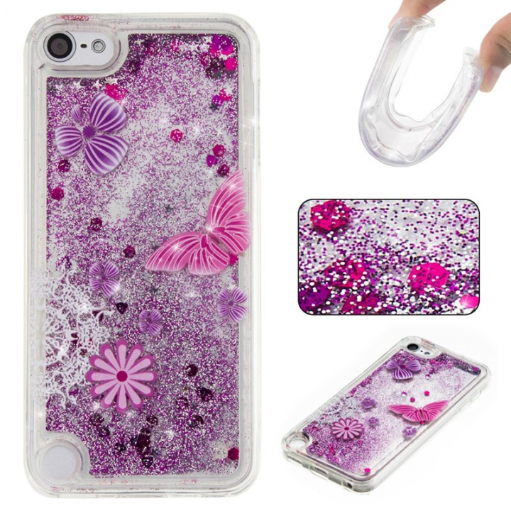 Apple iPod Touch 5/6 Case,Liquid Quicksand Floating Clear Soft TPU Protective Cover (pattern 5) For Apple iPod Touch 5/6