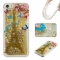 Iphone 5S 5C SE Case,Liquid Quicksand Floating Clear Soft TPU Protective Cover (pattern 7) For Iphone 5S 5C SE
