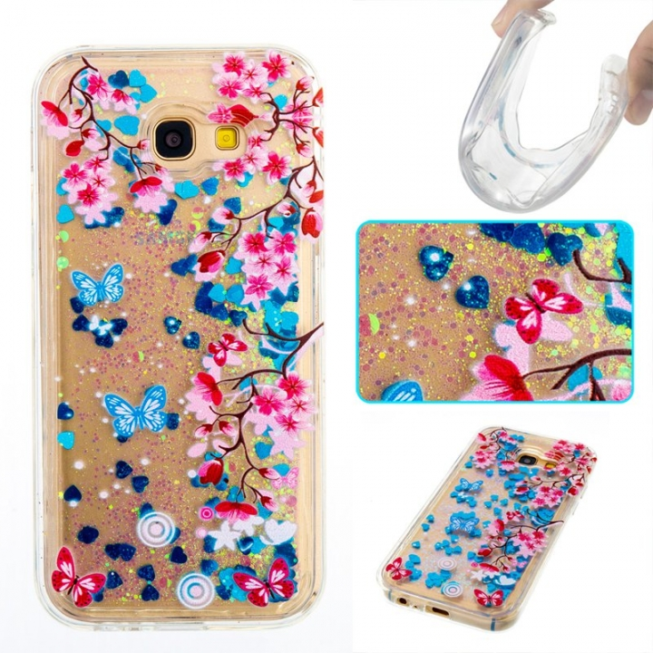 Samsung Galaxy A5 2017 Case,Liquid Quicksand Floating Clear Soft TPU Protective Cover (pattern 10) For Samsung Galaxy A5 2017