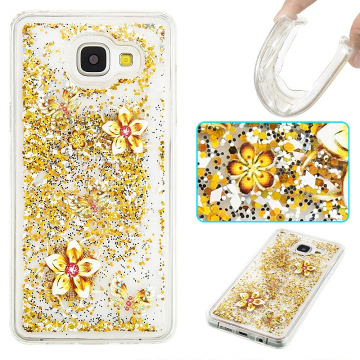 Samsung Galaxy A510/A5 2016 Case,Liquid Quicksand Transparent Soft TPU Silicone Case  (pattern 9) For Galaxy A510/A5 2016