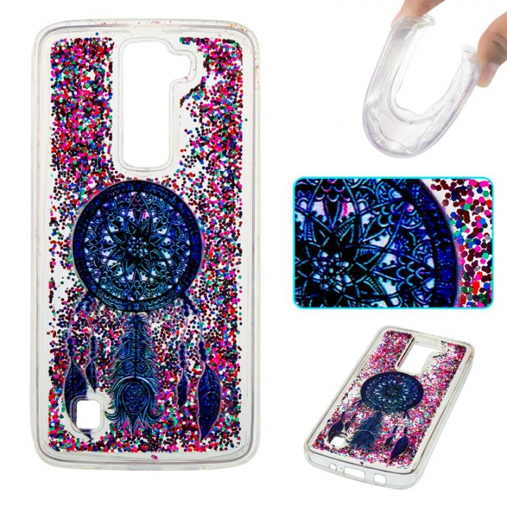 LG K7 / LG K8 Case,Liquid Quicksand Transparent Soft TPU Silicone Case  (pattern 4) For LG K7 / LG K8