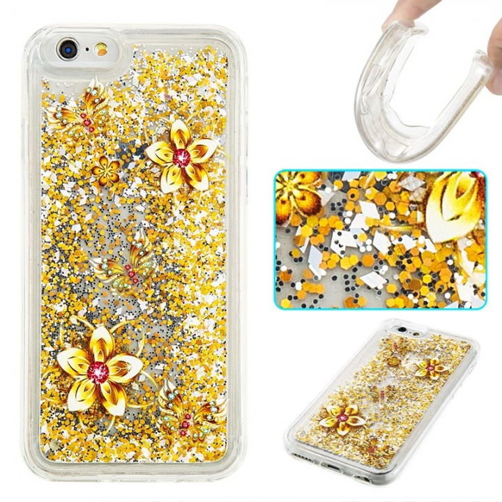 iPhone 6/6S Case,Liquid Quicksand Transparent Soft TPU Silicone Case  (pattern 9) For iPhone 6/6S