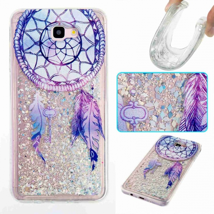 Galaxy J7 Prime / On7 2016 Case,Liquid Quicksand Transparent Soft TPU Silicone Case  (pattern 6) For Galaxy J7 Prime / On7 2016