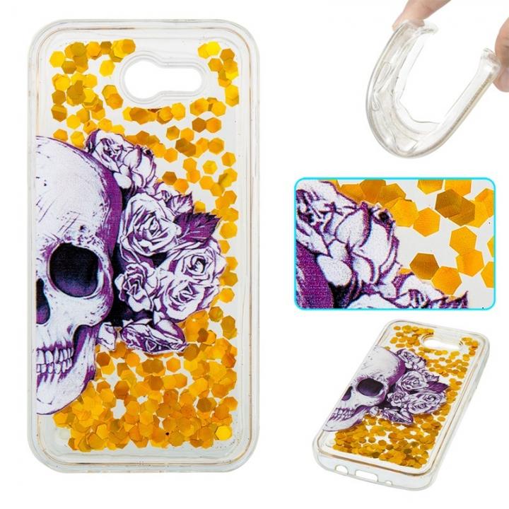 Samsung Galaxy J3 2017/J3 Prime Case,Liquid Quicksand Transparent Soft TPU Silicone Case  (pattern 1) For Galaxy J3 2017/J3 Prime