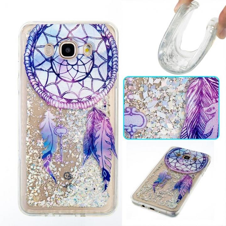 Samsung Galaxy J710/J7 2016 Case,Liquid Quicksand Transparent Soft TPU Silicone Case  (pattern 6) For Samsung Galaxy J710/J7 2016