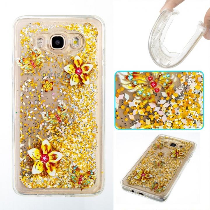 Samsung Galaxy J710/J7 2016 Case,Liquid Quicksand Transparent Soft TPU Silicone Case  (pattern 9) For Samsung Galaxy J710/J7 2016