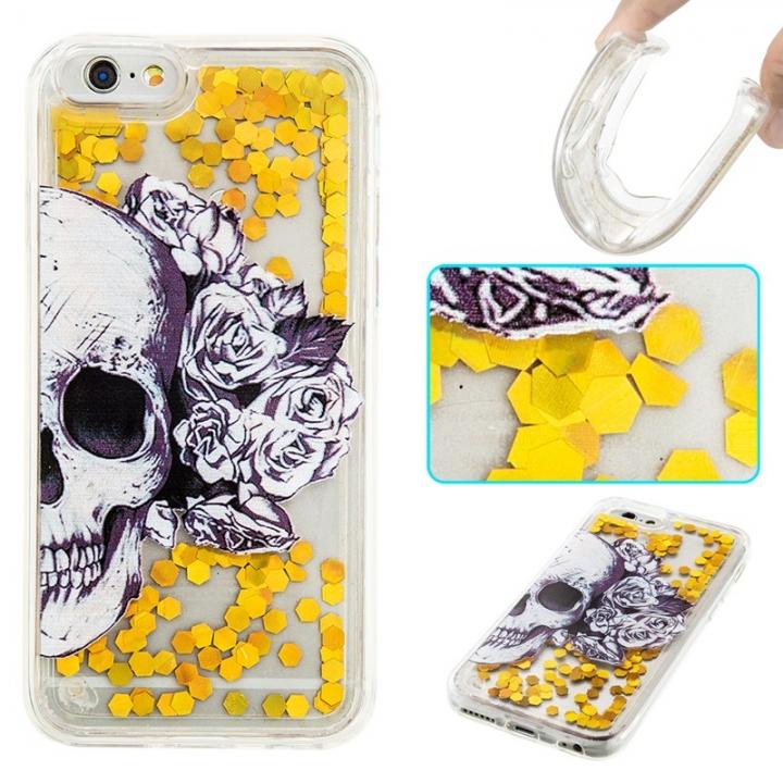 iPhone 6/6S Case,Liquid Quicksand Transparent Soft TPU Silicone Case  (pattern 1) For iPhone 6/6S