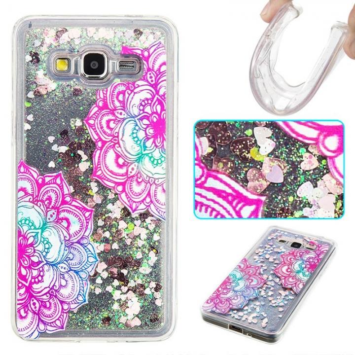 Samsung Galaxy Grand Prime G530 Case,Liquid Quicksand Transparent Soft TPU Silicone Case  (pattern 7) For Galaxy Grand Prime G530