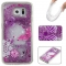 Samsung Galaxy S6 Case,Liquid Quicksand Floating Clear Soft TPU Protective Cover (pattern 5) For Samsung Galaxy S6