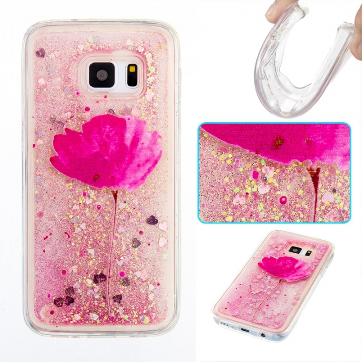 Samsung Galaxy S7 Case,Liquid Quicksand Transparent Soft TPU Silicone Case  (pattern 5) For Samsung Galaxy S7