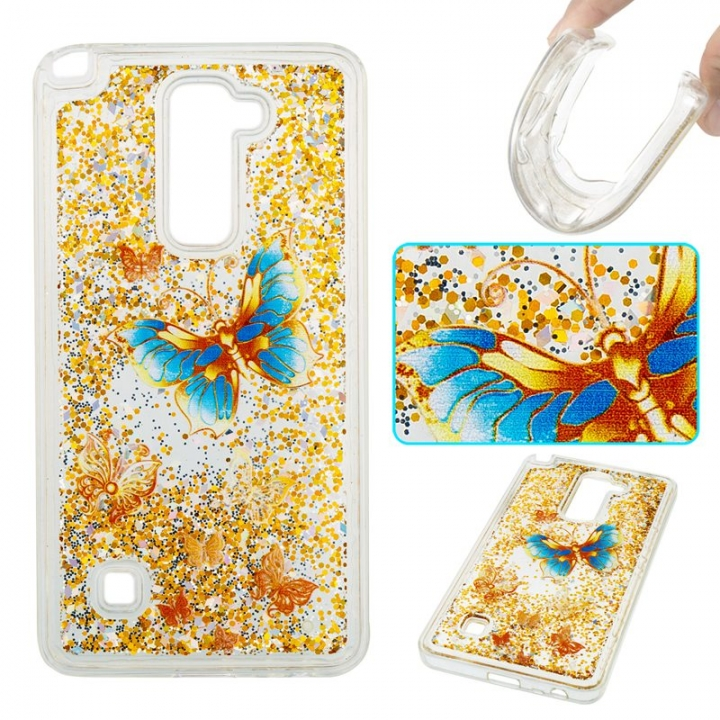LG LS775/LG Stylus 2 Case,Liquid Quicksand Transparent Soft TPU Silicone Case  (pattern 3) For LG LS775/LG Stylus 2