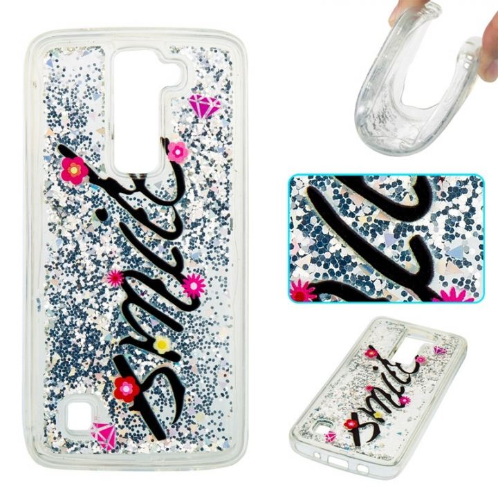 LG K7 K8 Case,Liquid Quicksand Floating Clear Soft TPU Protective Cover (pattern 1) For LG K7 K8