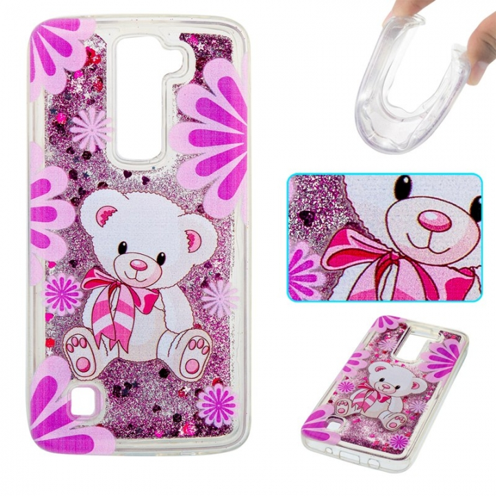 LG K7 K8 Case,Liquid Quicksand Floating Clear Soft TPU Protective Cover (pattern 4) For LG K7 K8