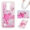 LG K7 K8 Case,Liquid Quicksand Floating Clear Soft TPU Protective Cover (pattern 8) For LG K7 K8