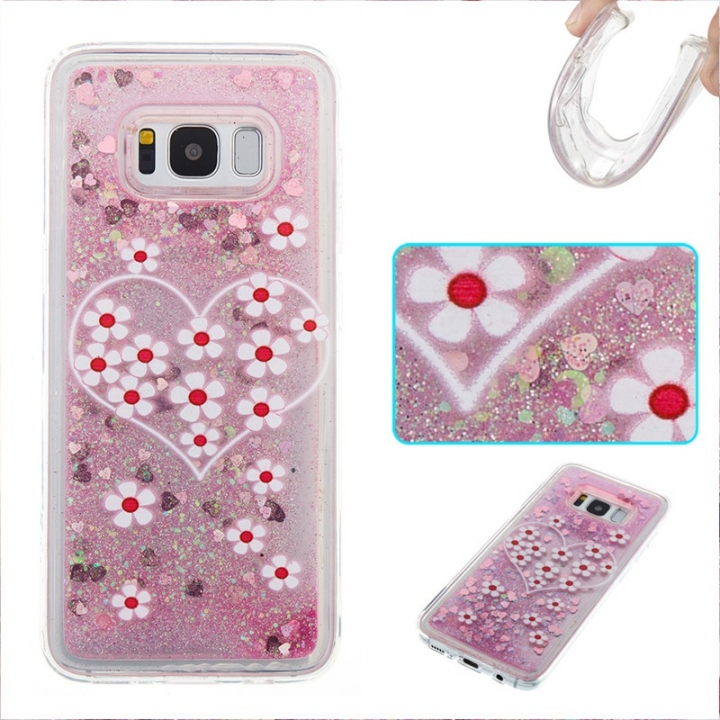 Samsung Galaxy S8 Case,Liquid Quicksand Floating Clear Soft TPU Protective Cover (pattern 3) For Samsung Galaxy S8