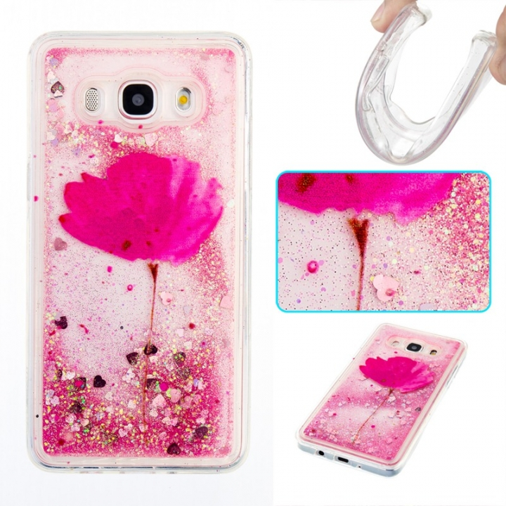 Samsung Galaxy J510/J5 2016 Case,Liquid Quicksand Transparent Soft TPU Silicone Case  (pattern 5) For Samsung Galaxy J510/J5 2016