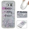 Samsung Galaxy S6 Case,Liquid Quicksand Floating Clear Soft TPU Protective Cover (pattern 2) For Samsung Galaxy S6