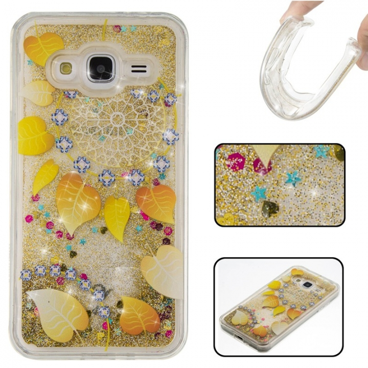 Samsung Galaxy J3/J310 Case,Liquid Quicksand Floating Clear Soft TPU Protective Cover (pattern 9) For Samsung Galaxy J3/J310