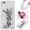 Huawei P9 Lite Case,Liquid Quicksand Floating Clear Soft TPU Protective Cover (pattern 1) For Huawei P9 Lite