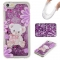 Iphone 5S 5C SE Case,Liquid Quicksand Floating Clear Soft TPU Protective Cover (pattern 4) For Iphone 5S 5C SE