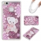Huawei P9 Lite Case,Liquid Quicksand Floating Clear Soft TPU Protective Cover (pattern 4) For Huawei P9 Lite