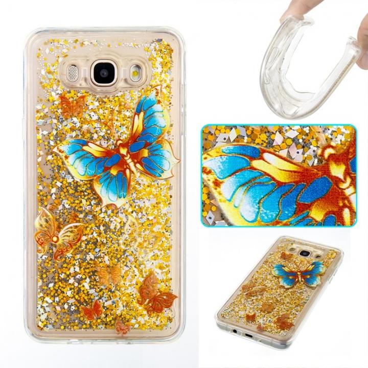 Samsung Galaxy J710/J7 2016 Case,Liquid Quicksand Transparent Soft TPU Silicone Case  (pattern 3) For Samsung Galaxy J710/J7 2016