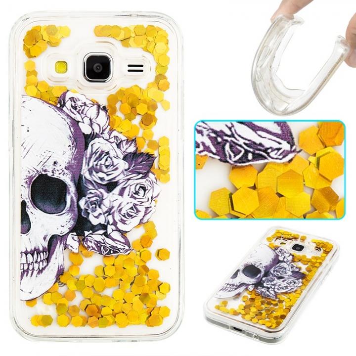 Samsung Galaxy Core Prime G360 Case,Liquid Quicksand Transparent Soft TPU Silicone Case  (pattern 1) For Galaxy Core Prime G360