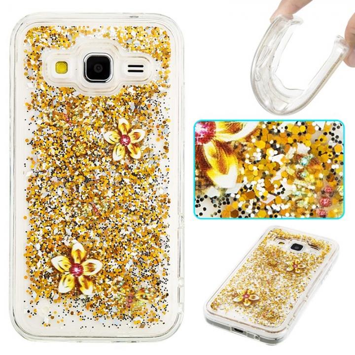Samsung Galaxy Core Prime G360 Case,Liquid Quicksand Transparent Soft TPU Silicone Case  (pattern 9) For Galaxy Core Prime G360