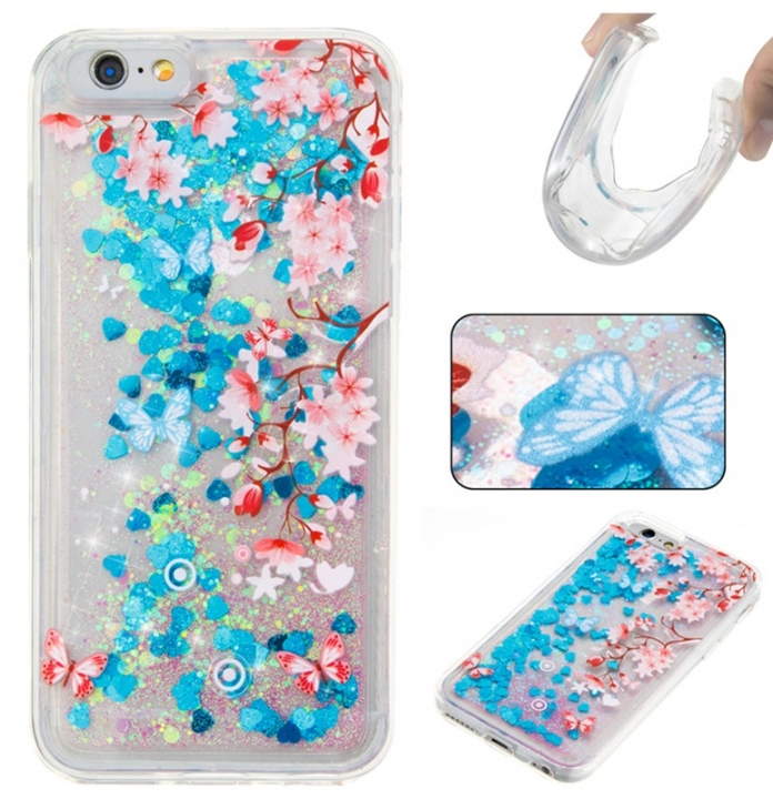 Iphone 6/6S Case,Liquid Quicksand Floating Clear Soft TPU Protective Cover (pattern 10) For Iphone 6/6S