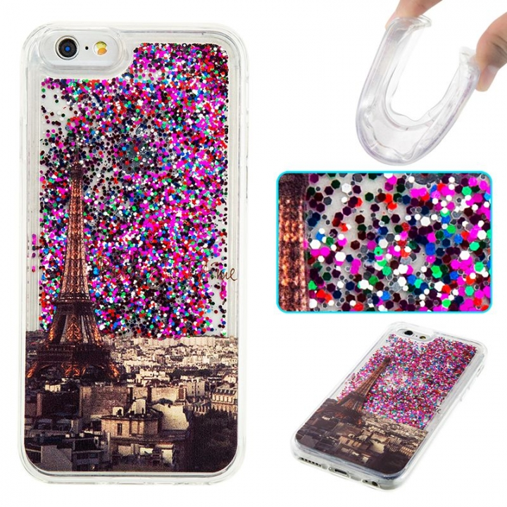 iPhone 6/6S Case,Liquid Quicksand Transparent Soft TPU Silicone Case  (pattern 2) For iPhone 6/6S
