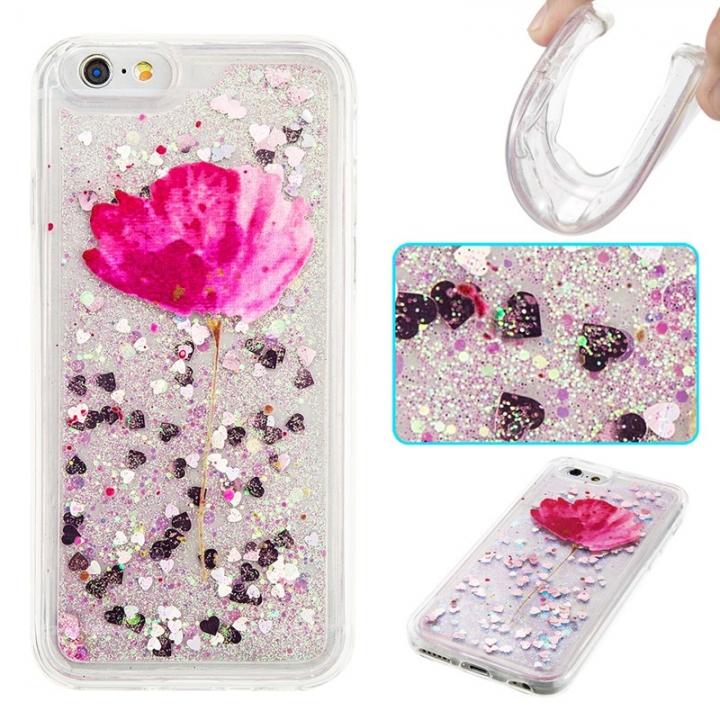 iPhone 6/6S Case,Liquid Quicksand Transparent Soft TPU Silicone Case  (pattern 5) For iPhone 6/6S