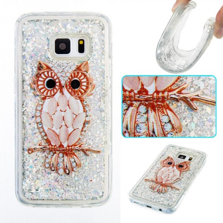 Samsung Galaxy S7 Case,Liquid Quicksand Transparent Soft TPU Silicone Case  (pattern 8) For Samsung Galaxy S7