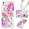 iPhone 5S SE 5C 5G Case,Liquid Quicksand Transparent Soft TPU Silicone Case  (pattern 7) For iPhone 5S SE 5C 5G