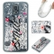 Samsung Galaxy S5 Case,Liquid Quicksand Floating Clear Soft TPU Protective Cover (pattern 1) For Samsung Galaxy S5