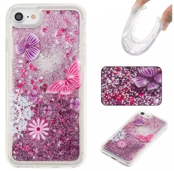 Iphone 7G/8G Case,Liquid Quicksand Floating Clear Soft TPU Protective Cover (pattern 5) For Iphone 7G/8G