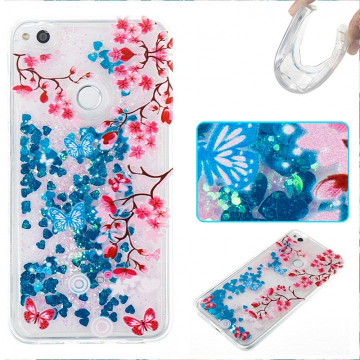 Huawei P8 Lite 2017/Honor 8 2017 Case,Liquid Quicksand Floating Clear Soft TPU Protective Cover (pattern 10) For Huawei P8 Lite 2017/Honor 8 2017