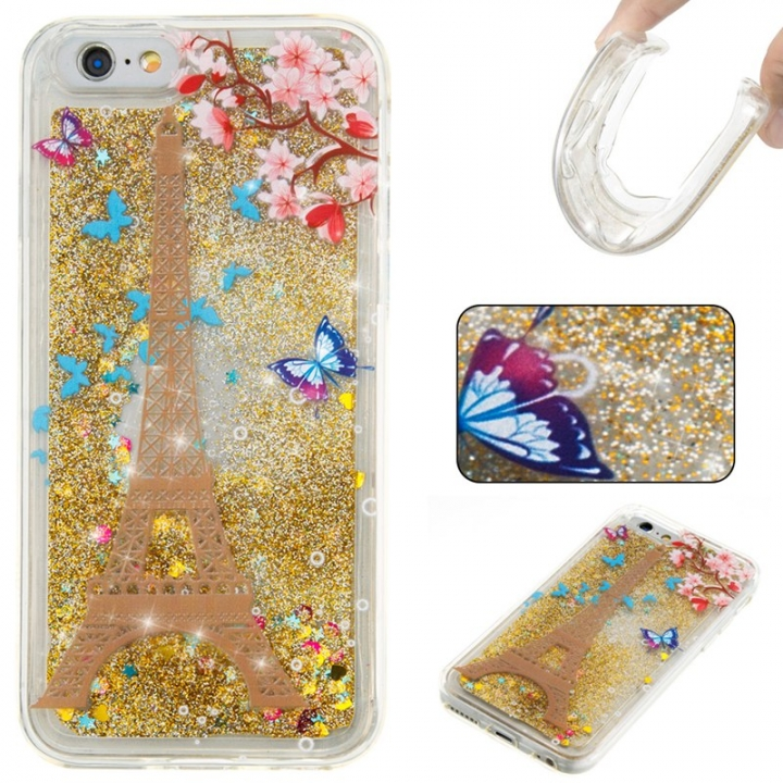 Iphone 6/6S Case,Liquid Quicksand Floating Clear Soft TPU Protective Cover (pattern 7) For Iphone 6/6S