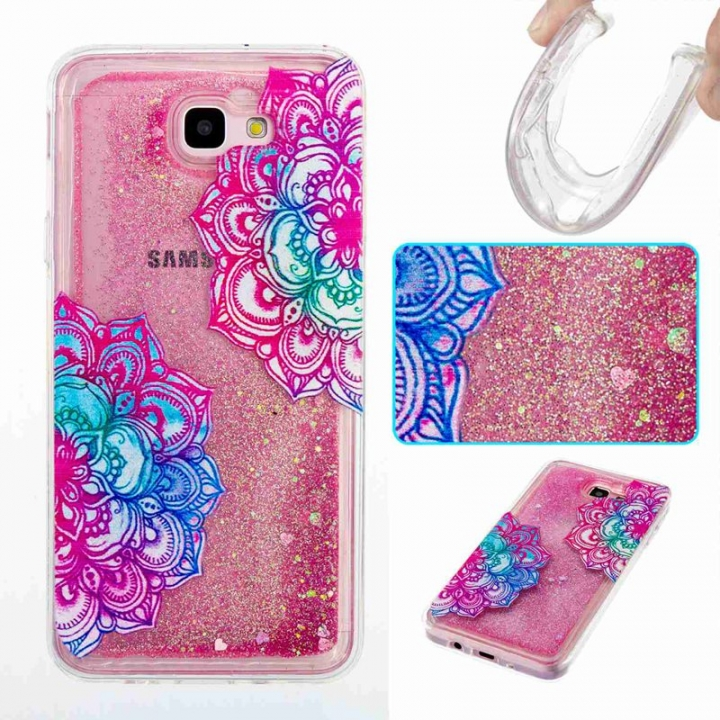 Galaxy J5 Prime / On5 2016 Case,Liquid Quicksand Transparent Soft TPU Silicone Case  (pattern 7) For Galaxy J5 Prime / On5 2016