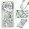 iPhone 6/6S Case,Liquid Quicksand Transparent Soft TPU Silicone Case  (pattern 6) For iPhone 6/6S