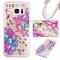 Samsung Galaxy S7 edge Case,Liquid Quicksand Transparent Soft TPU Silicone Case  (pattern 7) For Samsung Galaxy S7 edge