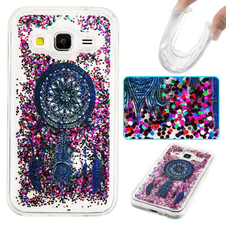 Samsung Galaxy Core Prime G360 Case,Liquid Quicksand Transparent Soft TPU Silicone Case  (pattern 4) For Galaxy Core Prime G360