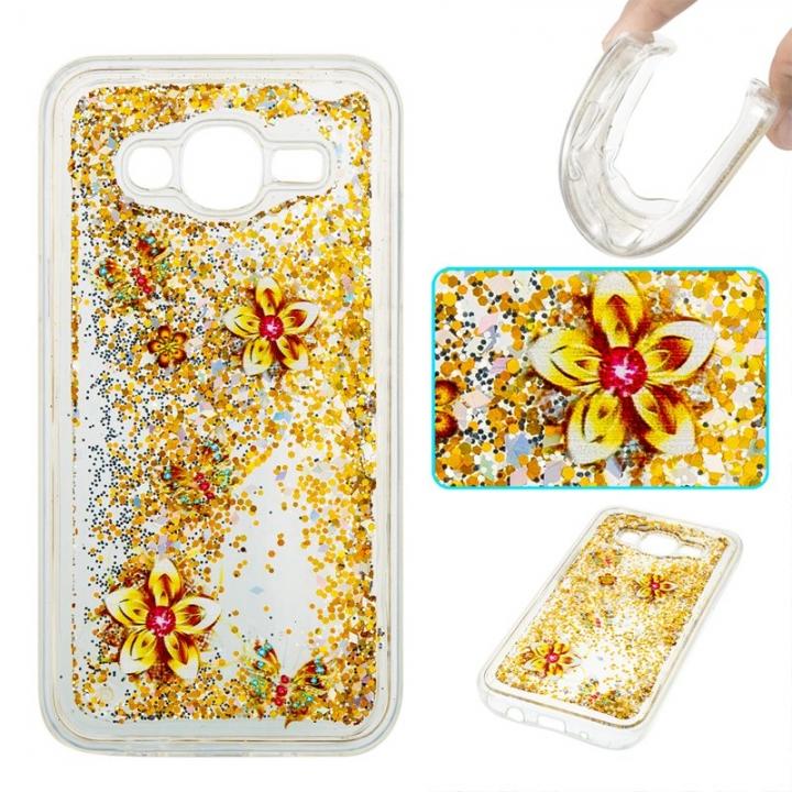 Samsung Galaxy J5 2015 Case,Liquid Quicksand Transparent Soft TPU Silicone Case  (pattern 9) For Samsung Galaxy J5 2015