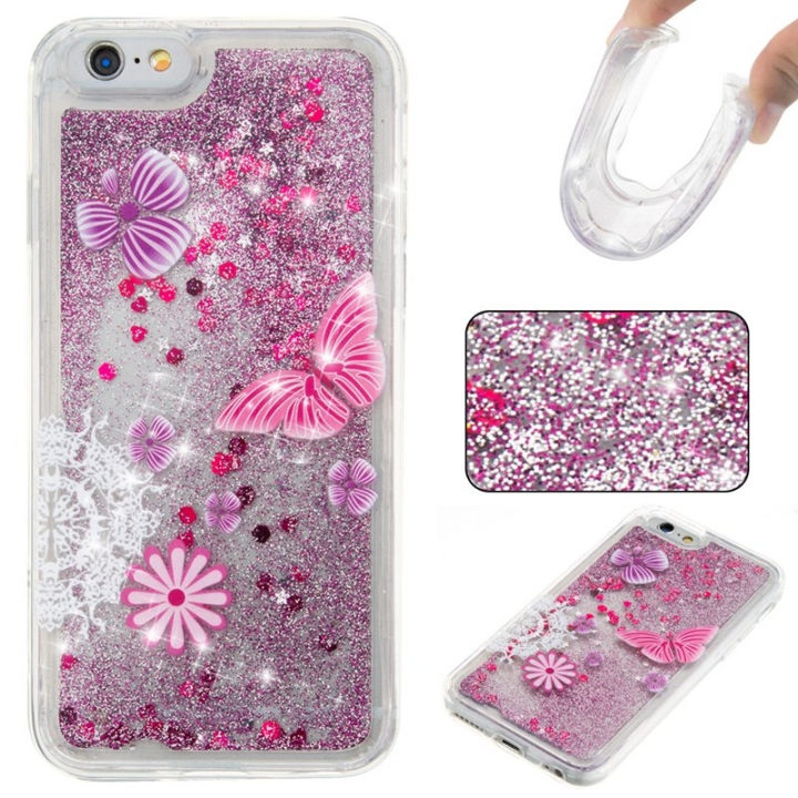 Iphone 6/6S Case,Liquid Quicksand Floating Clear Soft TPU Protective Cover (pattern 5) For Iphone 6/6S