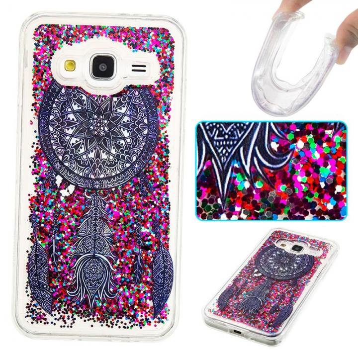 Samsung Galaxy J3/J310 Case,Liquid Quicksand Transparent Soft TPU Silicone Case  (pattern 4) For Samsung Galaxy J3/J310